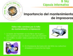 importancia del mntenimiento de impresoras